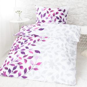 XPOSE ® Bavlněné povlečení na dvě lůžka IVANKA - fialová 140x200