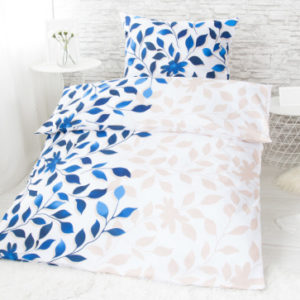 XPOSE ® Bavlněné povlečení na dvě lůžka IVANKA - modrá 140x200