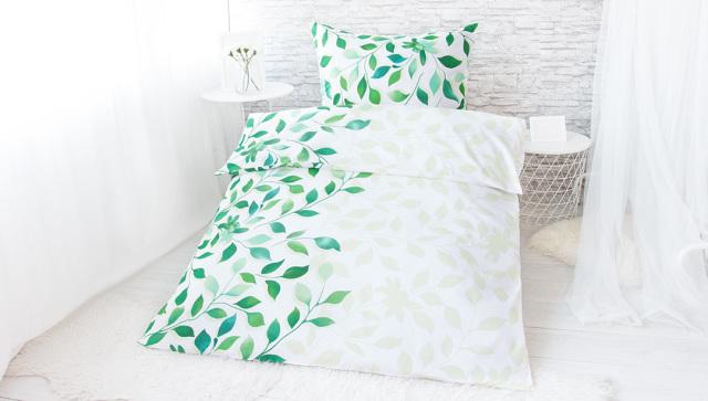 XPOSE ® Bavlněné povlečení na dvě lůžka IVANKA - zelená 140x200