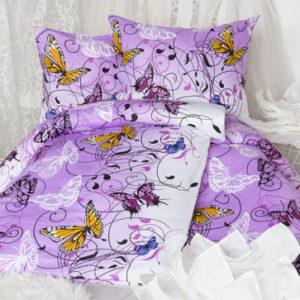 XPOSE ® Bavlněné povlečení na dvě lůžka KAROLÍNA - fialová 140x200