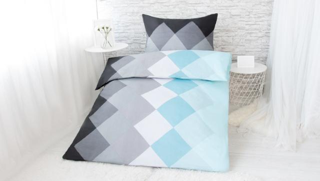XPOSE ® Bavlněné povlečení na dvě lůžka SANDRA - modrá 140x200