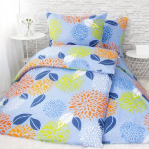XPOSE ® Francouzské bavlněné povlečení ŠARLOTA - modrá 200x220