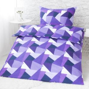 XPOSE ® Francouzské bavlněné povlečení KARIN EXCLUSIVE - fialová 200x220