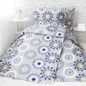 XPOSE ® Francouzské bavlněné povlečení KATARÍNA - šedá/béžová 200x220