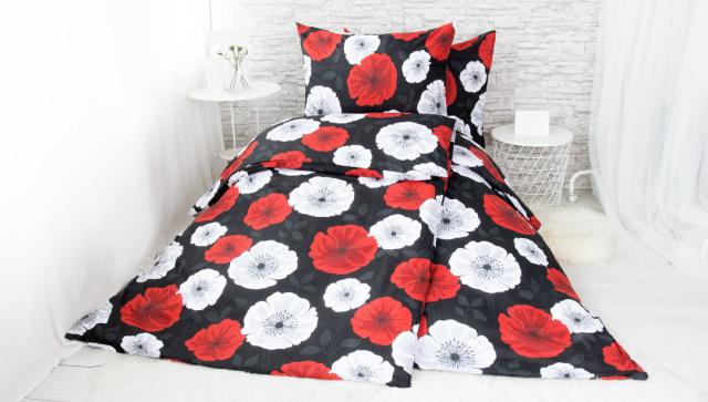 XPOSE ® Francouzské bavlněné povlečení LILI - červená 200x220