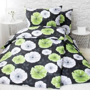 XPOSE ® Francouzské bavlněné povlečení LILI - zelená 200x220