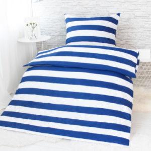 XPOSE ® Francouzské bavlněné povlečení MARINA - modrá 200x220