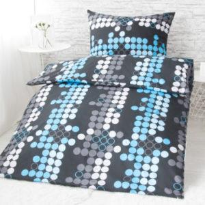 XPOSE ® Francouzské bavlněné povlečení MIA EXCLUSIVE - modrá 200x220