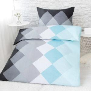 XPOSE ® Francouzské bavlněné povlečení SANDRA - modrá 200x220