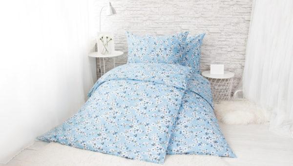 XPOSE ® Francouzské bavlněné povlečení VENUŠE - modrá 200x220