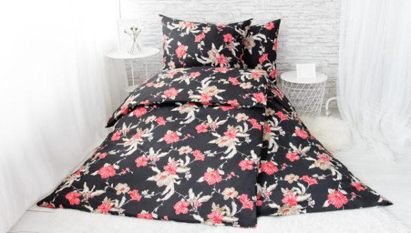 XPOSE ® Francouzské bavlněné povlečení VIKTORIE - červená 200x220