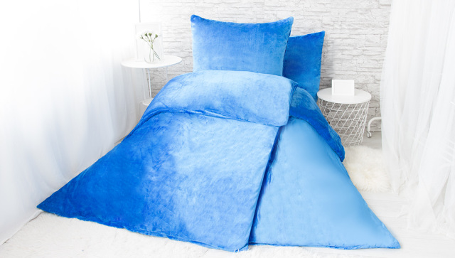 XPOSE ® Francouzské povlečení mikroplyš JORGA - modrá 200x240