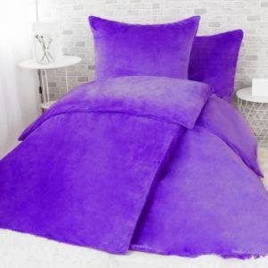 XPOSE ® Francouzské povlečení mikroplyš JORGA - tmavě fialová 200x240