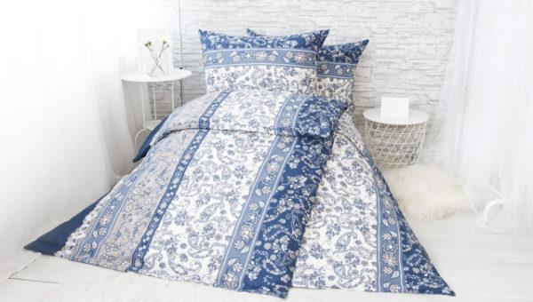 XPOSE ® Bavlněné povlečení na dvě lůžka KARA - tmavě modrá 140x200