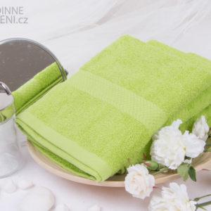 XPOSE ® Froté ručník VERONA 3ks - zelená 30x50 cm