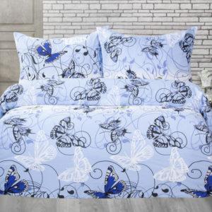 XPOSE ® Francouzské bavlněné povlečení KAROLÍNA - modrá 200x220
