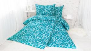 XPOSE ® Francouzské bavlněné povlečení ELIZABETH - tyrkysová 200x220
