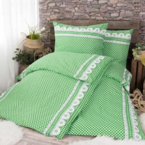 XPOSE ® Bavlněné povlečení na dvě lůžka APOLENA - zelená 140x200