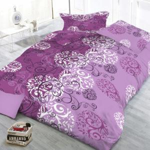 XPOSE ® Bavlněné povlečení na dvě lůžka AMÉLIA - fialová 140x200
