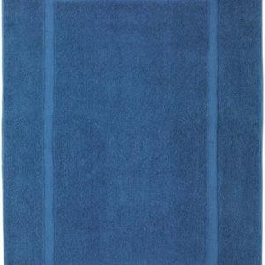 Modrá bavlněná koupelnová předložka Wenko Slate