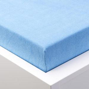 Napínací prostěradlo froté EXCLUSIVE modré jednolůžko 2 ks