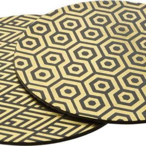 Sada 4 koženkových prostírání Premier Housewares Deco