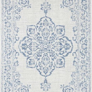 Modro-krémový venkovní koberec Bougari Tilos