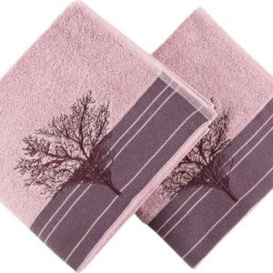 Sada 2 vínových ručníků Infinity