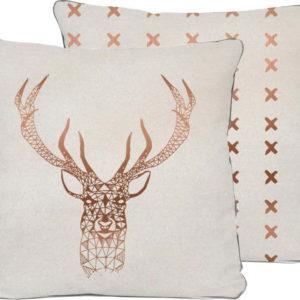 Béžový polštář Really Nice Things Deer