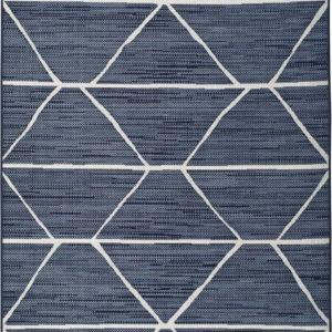 Modrý venkovní koberec Universal Elba Geo